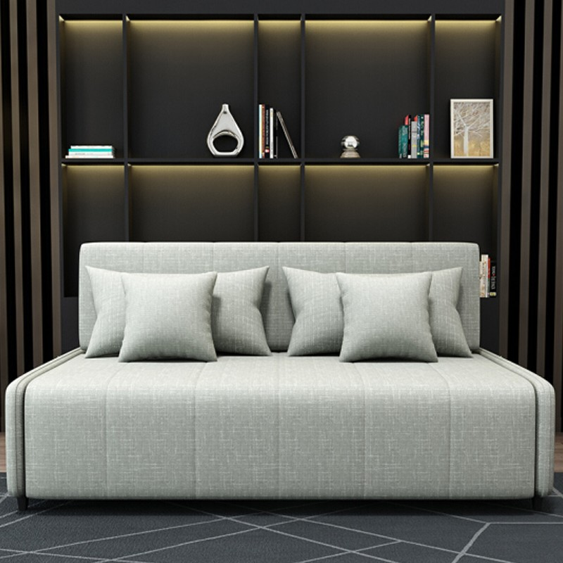 MR135cm多功能褶疊儲物布藝梳化床MR-6079淺灰