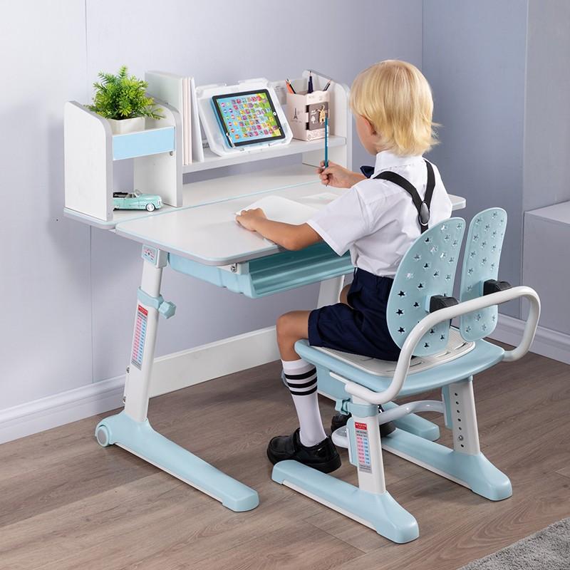 MR兒童人體工學學習桌椅套裝MR-5080藍色