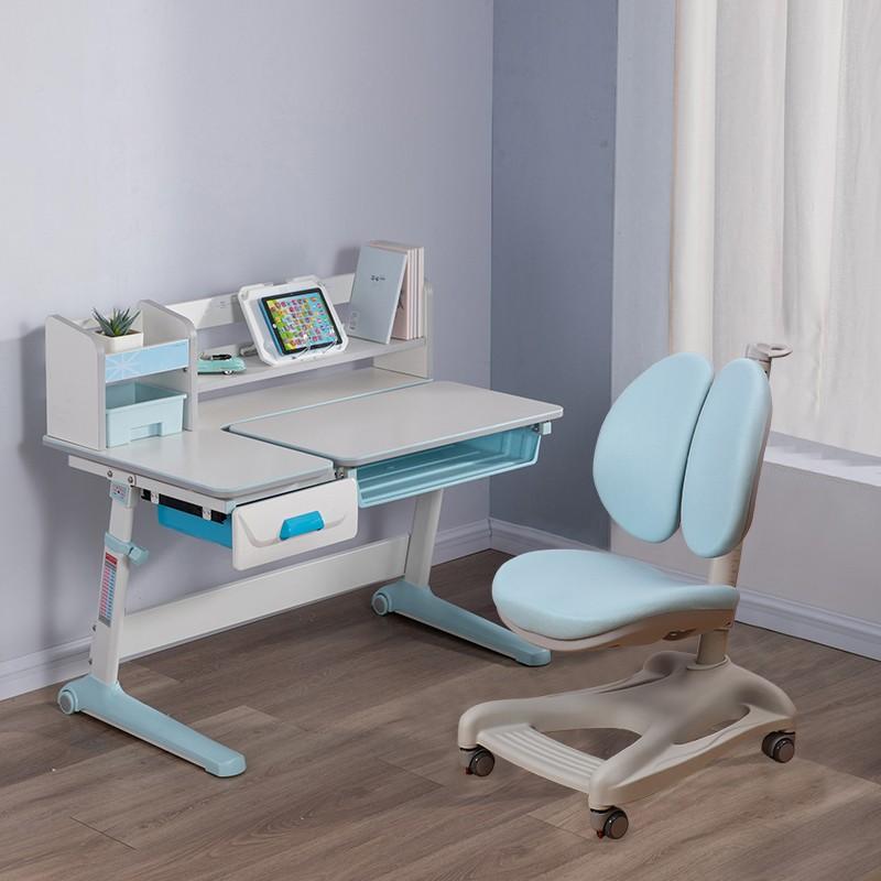 MR兒童人體工學學習桌椅套裝MR-5100藍色