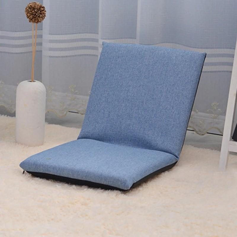 MR懶人可摺疊單人小沙發-藍色