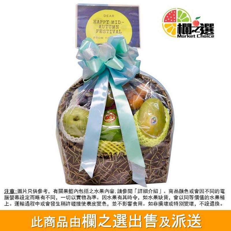 欄之選精選果籃 (包括日本水晶梨、泰國金柚、澳洲蜜柑等優質水果)