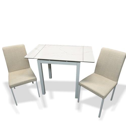 力豐雙人摺合陶瓷玻璃餐檯連椅套裝   *1月20日或之後訂單 2月25日開始陸續發貨