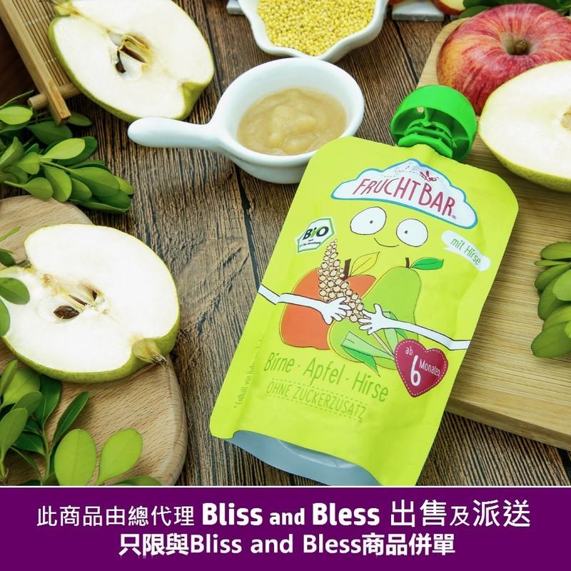Fruchtbar有機穀物果蓉 - 啤梨蘋果小米