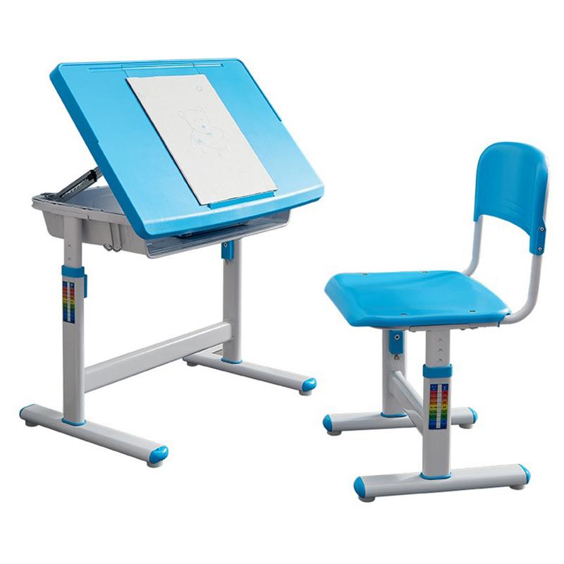 MR兒童可調節高度學習桌椅MR-905藍色
