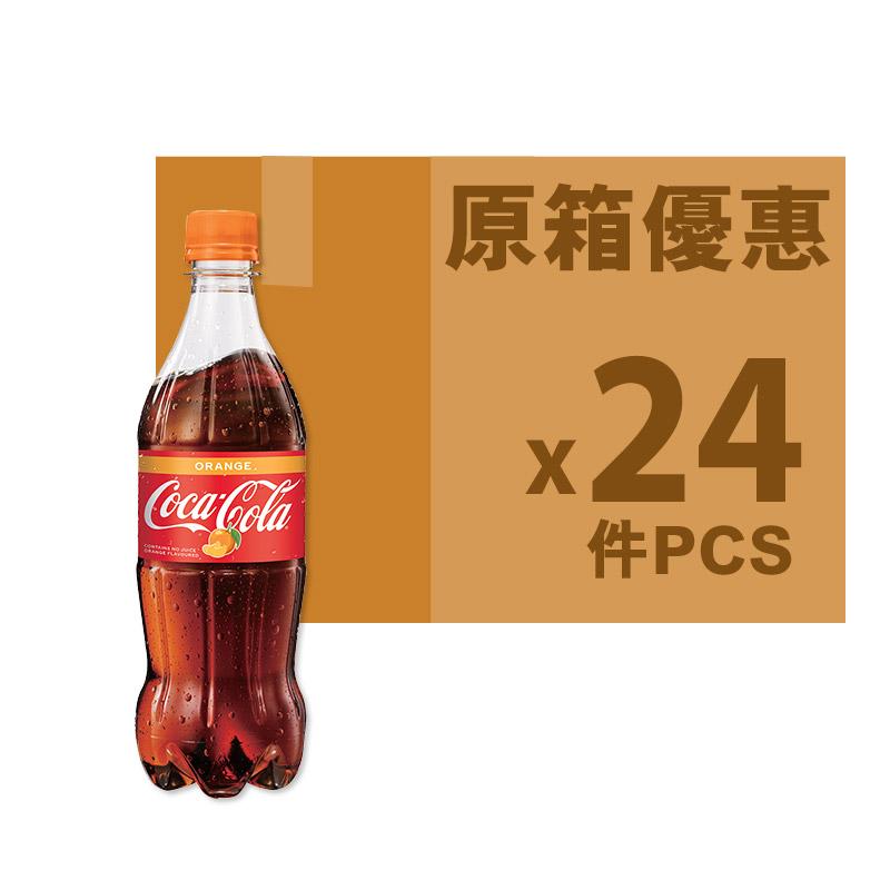 COCA COLA橙味可樂 600ML