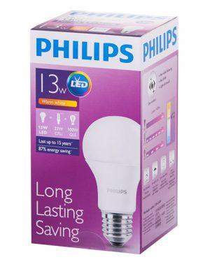 PHILIPS[原箱] LED球膽 13W 釘頭 黃光 *6件