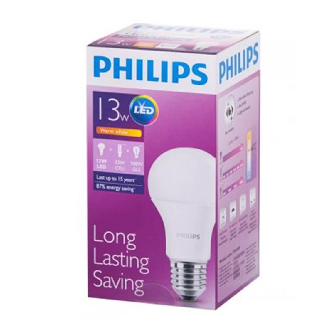 PHILIPS[原箱]LED球膽 13W 釘頭 白光 *6件